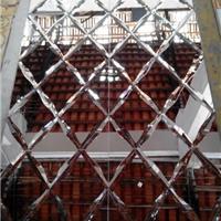 供应水晶玻璃 艺术拼镜 茶色磨边酒店背景墙
