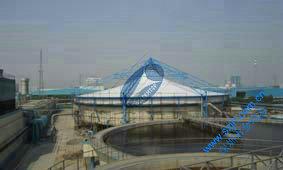 污水池加盖张拉膜|污水池盖板膜密闭工程
