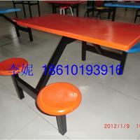 河北霸州胜芳镇玻璃钢圆凳四连体餐桌椅