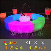 星光彩GF203led发光长凳 酒吧遥控充电凳