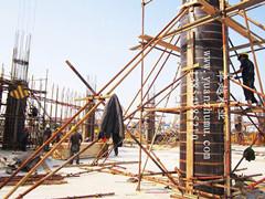自贡圆柱子模具,自贡木质圆模具