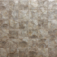 贝壳墙纸、贝壳几何拼图、贝壳雕花