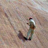 供应山坡防护菱形网,山坡防护勾花网