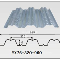 供应开口楼承板,钢楼承板YX76-320-960价格
