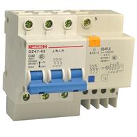 供应人民DZ47LE-63 C63 3P N漏电保护器