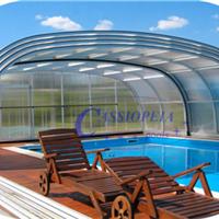 供应嫒池3泳池伸缩阳光房