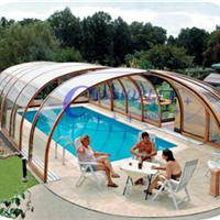 供应嫒池7泳池伸缩阳光房
