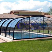 供应嫒池8泳池伸缩阳光房