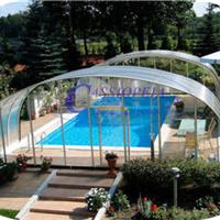 供应嫒池2泳池伸缩阳光房