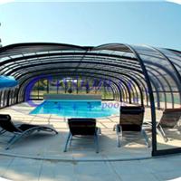 供应嫒池6泳池伸缩阳光房