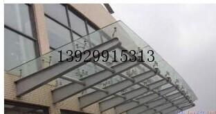 供应大楼户外钢构玻璃雨棚不锈钢支撑柱