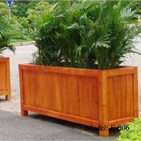 供应广州厂家订做景观花箱 现货实木花箱
