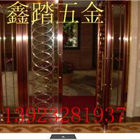 供应KTV玻璃门不锈钢玫瑰金门套加工