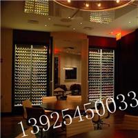 豪华不锈钢酒柜酒架装饰案例生产商