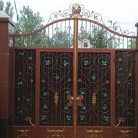 供应铁艺大门,门花配件,铁艺配件代加工