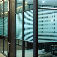 厂家直销办公室玻璃隔断横条磨砂膜大量批发