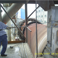 郑州水泥厂窑尾烟室去结皮高压水枪