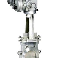 供应PZ973H电动对夹式刀型闸阀