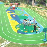 供应郑州幼儿园塑胶地坪