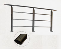 不锈钢楼梯扶手/彩色免焊接护栏HL-MH-002