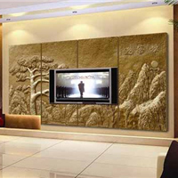 供应上海闵行浮雕背景墙设计加工