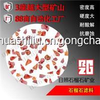 供应新疆内蒙古40号天然石榴石砂磨料