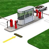 大连开发区金州新区智能停车系统道匝安装