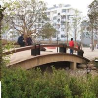 供应防腐木拱桥、公园曲折桥、木桥