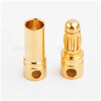 3.5mm毫米镀金香蕉插头,金插连接头