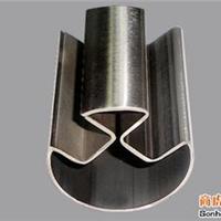 不锈钢单槽椭圆管,佛山90度双槽管