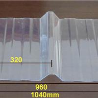 厂价供应工厂屋顶采光带透明PC波浪瓦