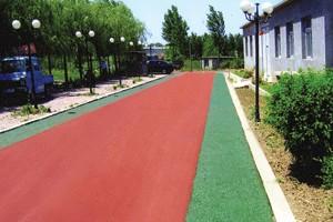 北京彩色沥青混凝土展现多姿多彩的柔性路面