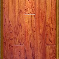 供应实木复合无醛地热地板 14-001榆木浮雕大倒角