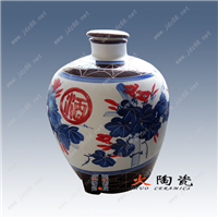 景德镇陶瓷酒坛厂家,定做十斤陶瓷酒坛