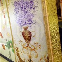 供应晶鑫旺彩雕背景墙|玄关背景|紫玫瑰装饰