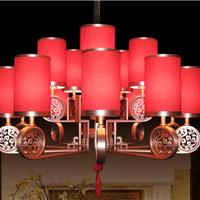 新中式灯布艺灯罩复古宫廷风婚宴喜宴灯饰
