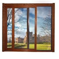供应高档住所欧式铝包木、实木门窗