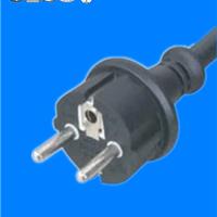供应广东橡胶线IP44防水插头电源线插头