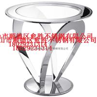 供应定做上海茶馆镜面不锈钢钛金茶几订做