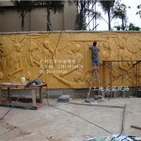 人造石壁画  砂岩浮雕模具 浮雕背景墙