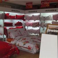 上海家纺展柜设计制作 家纺店面装修效果图