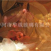 供应各种花型24K金镀膜压花玻璃