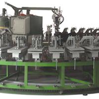 供应60工位聚氨酯鞋底浇注机半自动化生产线