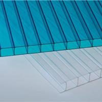 6mm蓝色透明PC中空板 PC阳光板