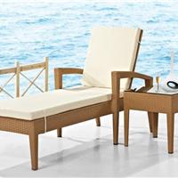 供应康福特M891藤编躺椅,仿藤家具