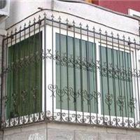 供应家装铁艺护栏 栏杆 防盗窗 铁艺窗 阳台栏杆