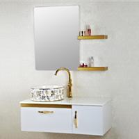 森福莱欧式简约不锈钢浴室柜组合