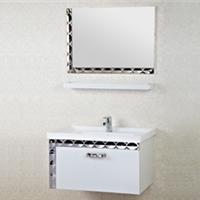 森福莱简约不锈钢浴室柜组合洗漱台洗脸手盆