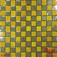 供应玻璃马赛克价格 金镜加金钻墙面砖