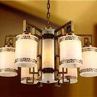 中式客厅吊灯 中式云石灯 中式吊灯